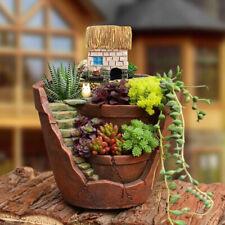 Cute Succulent Planter Flower Plant Bonsai Pot Micro Landscape Garden Decor AU