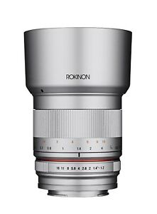 Rokinon 50mm f/1.2 Lens for Micro Four Thirds Mount Silver