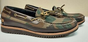 Men's Cole Haan Pinch Rugged Camp Moccasins Boat Shoes Camo Size US 9M - NEW