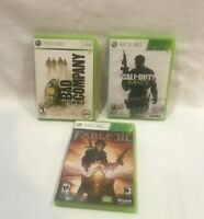 Lot Of 3 Xbox  360 Mix Games Bad Company MW3, Fable III,