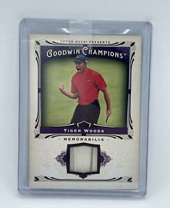 2013 Upper Deck Goodwin Champions Tiger Woods Relic Card