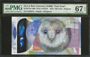 TEST NOTE - TDLR OWL POLYMER PMG 67 UNC
