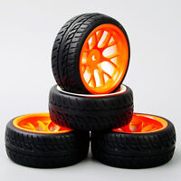 DHO 1:10 RC On Road Speed Racing Car Rubber Tires Tyre and Wheel Rim 4PCS