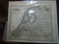 c1800 Netherlands, Antique Map The Seven United Provinces, Samuel Walker