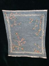Doll House Carpet Rug Miniature Petit Point Antique Look Needlepoint signed