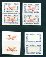 MNH Canada Unlisted Semi Official Airmail Pairs Collection (Lot #RN170)