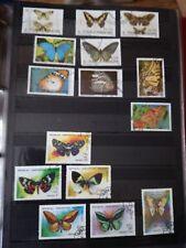 P604. Lot timbres oblitérés et neufs divers pays. Thème PAPILLONS