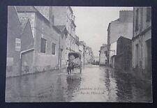 CPA Carte postale NANTES inondations 1904 Cycles moto CLEMENT Rue des Olivettes