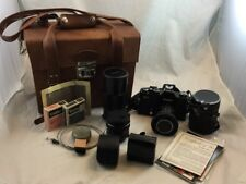 Vintage 1975 Vivitar 220 Slr Film Camera, Telephoto & Close Up Lenses, Filters!