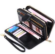 Women Zipper Long Leather Wallet Card Holder Phone Bag Case Lady Purse Handbag