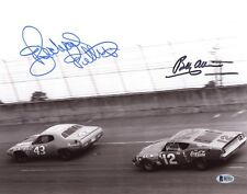 RICHARD PETTY & BOBBY ALLISON DUAL SIGNED AUTOGRAPHED 11x14 PHOTO BECKETT BAS