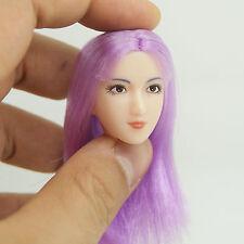 XE33-05 1/6 Scale HOT Female Head Sculpt Purple Hair CG CY TAKARA ZCWO TOYS