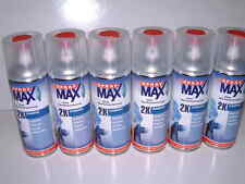 6 cans 2K aerosol SprayMax Gloss Lacquer Clear Coat Spray 400ml art. no. 2680061