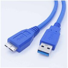 USB 3.0 PC Charger +Data SYNC Cable CordFor EMC Iomega Prestige 2TB 35190 Drive