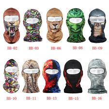 3D Full Face Mask Outdoor Cycling Ski Balaclava Neck Hood Beanie Animal Hats Hot