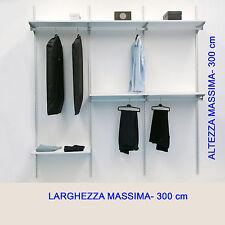 Cabina armadio su misura completa con ripiani e tubi appenderia.Prodotto qualità