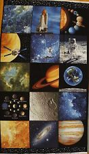 SPACE: THE NEW FRONTIER Bentartex Panels 100% Cotton Quilt Fabric