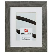 20x30 Gray Barnwood Picture Frame, White Mat with Opening for 16x24 Image