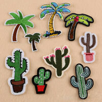 AU_ 9Pcs DIY Cactus Coco Embroidered Cloth Iron On Patch Sewing Applique Badge E