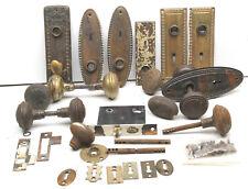 Antique Door Knob+Locks Restoration Hardware Fancy Odd Parts Brass Metal Iron ++