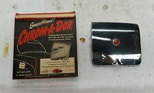 NOS 1949-1952 Pontiac 802-C stainless steel jeweled gas door cover Beacon brand