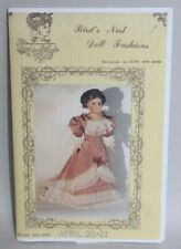 PACKAGED Uncut VTG Doll Clothes SEWING PATTERNS Bird's Nest Doll Fashions DRESS