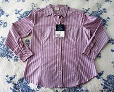 LEE RIDERS WOMEN'S LONG SLEEVE PURPLE STRIPED CASUAL TOP. SIZE M. NWT (2456)