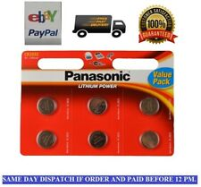 GENUINE 6 X PANASONIC CR2032 3V LITHIUM COIN CELL BATTERY DL2032 BR2032 2032 X 6