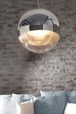 Hängelampe Hängeleuchte Pendellampe Kugel SPHERE Glas/Chrom 40cm Retro Design