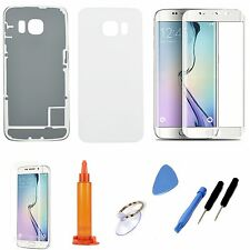 White Replacement Screen Glass Housing Cover Case For Samsung Galaxy S6 Edge