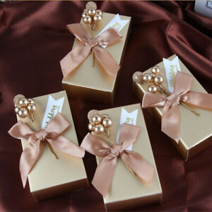 10pc Christmas Candy Cookie Boxes Xmas Wedding Party Muffin Cake Favour Gift Box