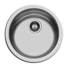 Lavello lavandino lavabo 45 cm acciaio inox con PILETTA 3'' vasca ROTONDA