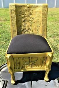 EGYPTIAN PHARAOH KING TUT TUTANKHAMEN GOLDEN THRONE CHAIR REPLICA ADULT SIZE