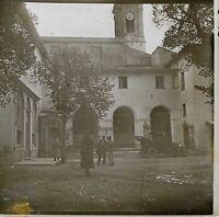 Francia la Iglesia Coche Foto Estéreo PL32P1n Placa De Cristal Vintage c1930