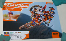 Marvin Musquin #25  signed poster, ricky carmichael,ryan dungey,chad reed