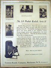 <1925 newspaper full-page DISPLAY ADVERTISEMENT fr POCKET KODAK Series II Camera