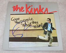 DAVE DAVIES SIGNED AUTHENTIC 'THE KINKS' RECORD ALBUM LP w/COA GUITARIST
