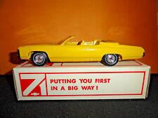 1971 CHEVY IMPALA CONV. SUNFLOWER YELLOW DEALER PROMO MODEL CAR W/BOX CASE FRESH