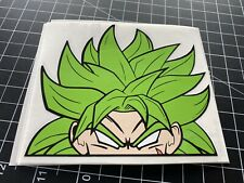 DRAGONBALL Z SUPER CAR WINDOW PEEKER VEGETA GOKU BROLY STICKER DECAL ANIME