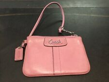 AUTHENTIC SIGNED COACH PINK LEATHER WRISTLET MUST SEE NO RESERVE