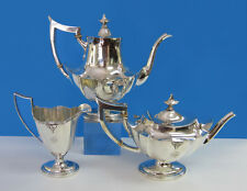 1920 West Point US Military Academy Gorham Sterling Silver Coffee & Tea Set