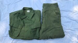 Vietnam Era Fatigue Jacket & Pants Set - Great Condition!