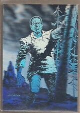 BERNIE WRIGHTSON MASTER OF THE MACABRE FPG 1993 FRANKENSTEIN HOLOGRAM PROMO CARD
