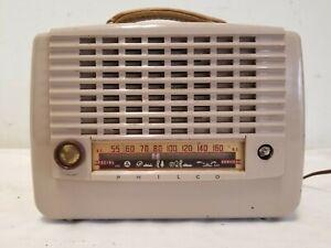Vintage 1952 Philco Portable AM/Civil Defense Special Services Radio Model B656