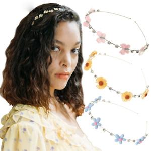 Girls Cute Rhinestone Hair Bands Flower Fruit Hair Hoops Thin Hair Accessories