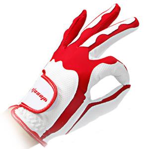 2pcs LH RH Red Women's Gloves High-grade Pu Leather Ladies Golf Gloves Non-Slip