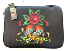 New Ed Hardy w/Rhinestones ETERNAL LOVE Laptop Sleeve for MacBook Pro 15""