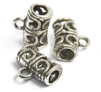 50pcs Tibetan Silver Charm Beads Connectors Bails 11 x 6MM Jewelry Findings