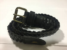 OBEY - Braided Faux Leather Belt - Black Colorway (NEW)