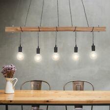 RETRO Hänge Decken Leuchte Holz Balken Pendel Lampe Arbeits Zimmer Beleuchtung